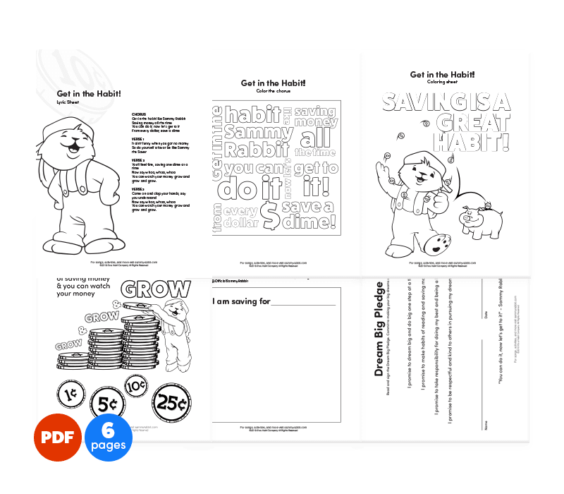 Get in the Habit! free coloring sheets