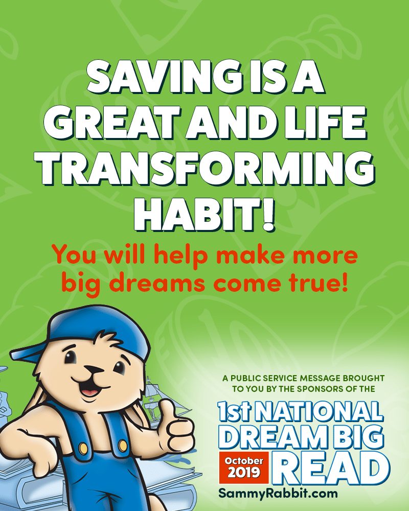Sammy Rabbit PSA - Saving is a Great Habit