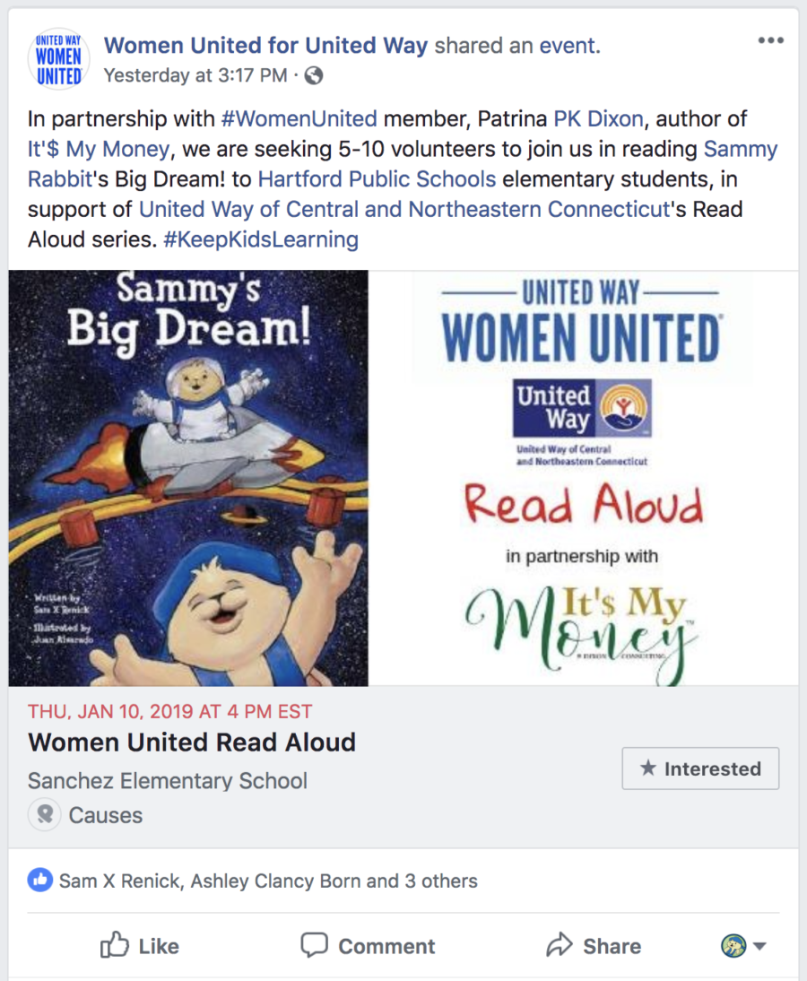 United Way facebook post