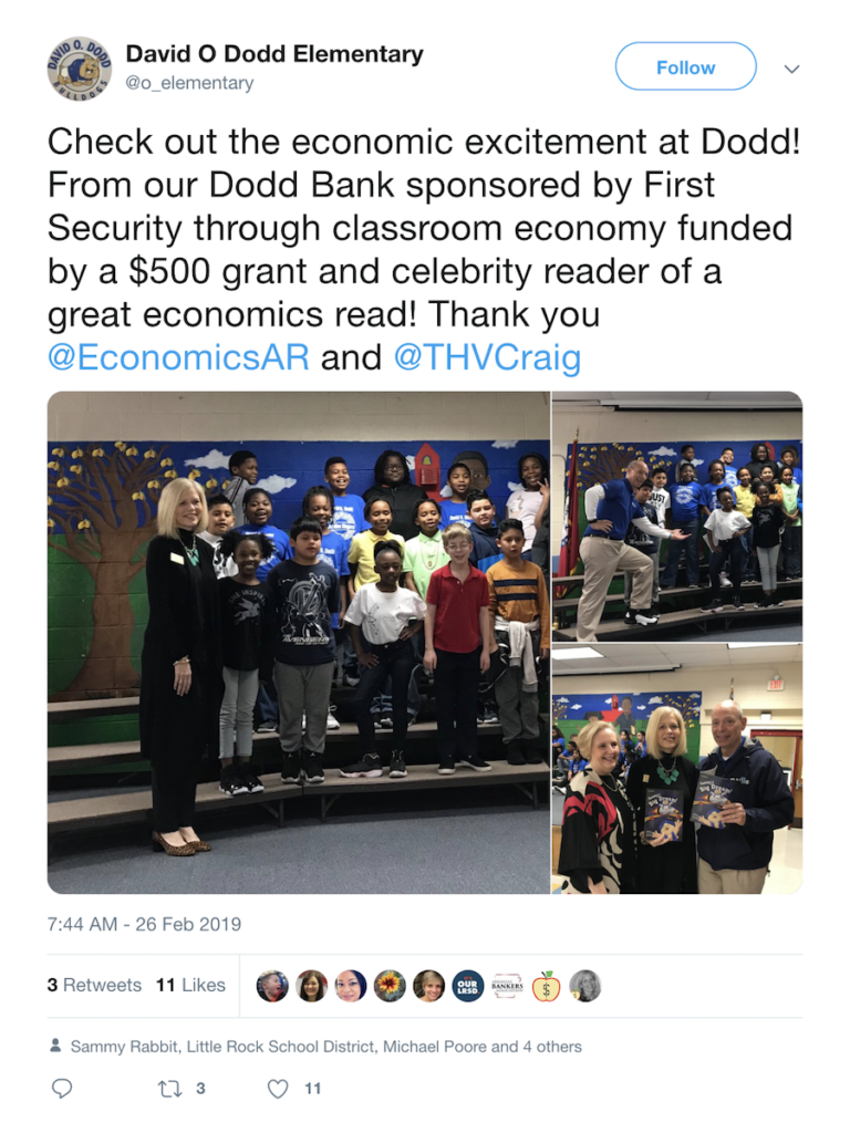 David O' Dodd Elementary School tweet #1